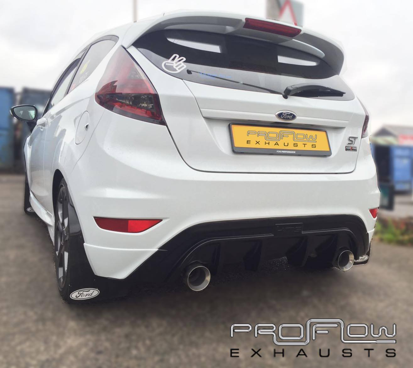 Ford Fiesta St Fitted With Proflow Duel Rear Stainless Steel Exhaust Proflow Exhausts