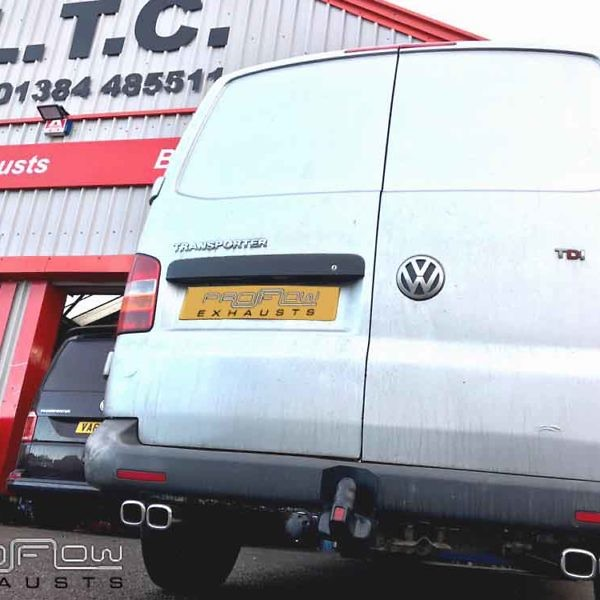 VW Transporter T5 With Proflow Exhausts Mid And Rear Stainless Steel Exhaust (1)