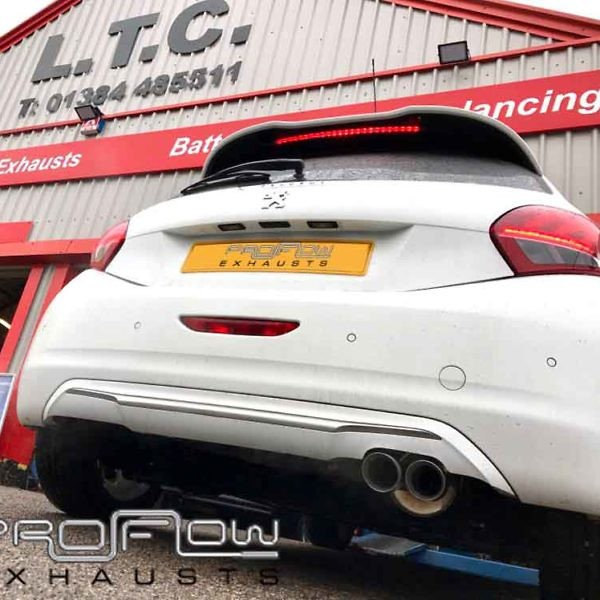 Peugeot 208 Back With Twin Tail Pipe Proflow Exhaust Custom Stainless Steel (1)