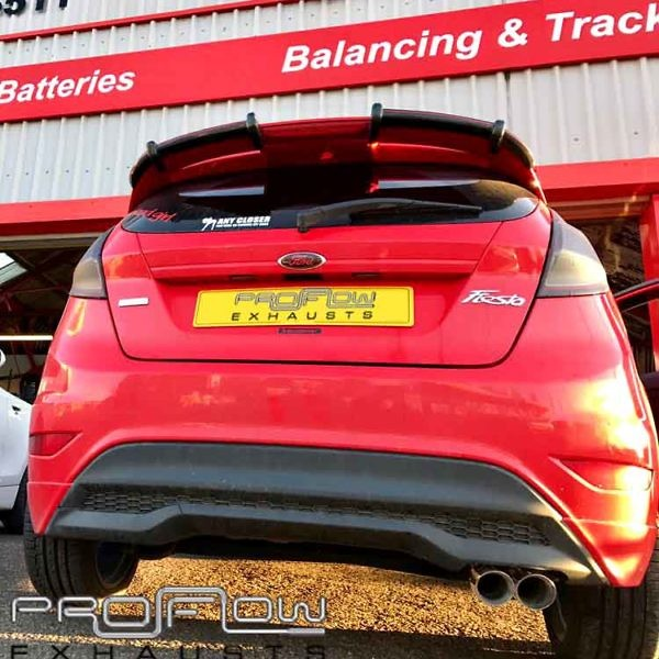 Ford Fiesta Stainless Steel Back Box Delete With Twin Tailpipe Proflow Custom Exhausts (2)