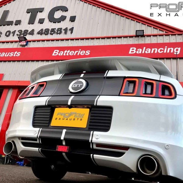 Mustang GT (5ltr) Dual Rear Single Tip Tailpipes Stainless Steel Custom Proflow Exhausts From £290 (1)