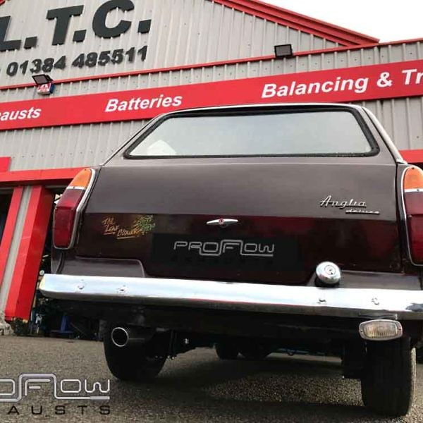 Porflow Exhaust Stainless Steel Custom Ford Anglia Middle And Rear Price £250 (1)