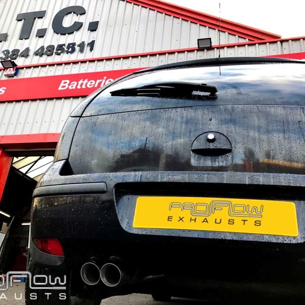 Proflow Exhausts Vauxhall Corsa Stainless Steel Back Box Delete With Twin Tip Tailpipe (1)