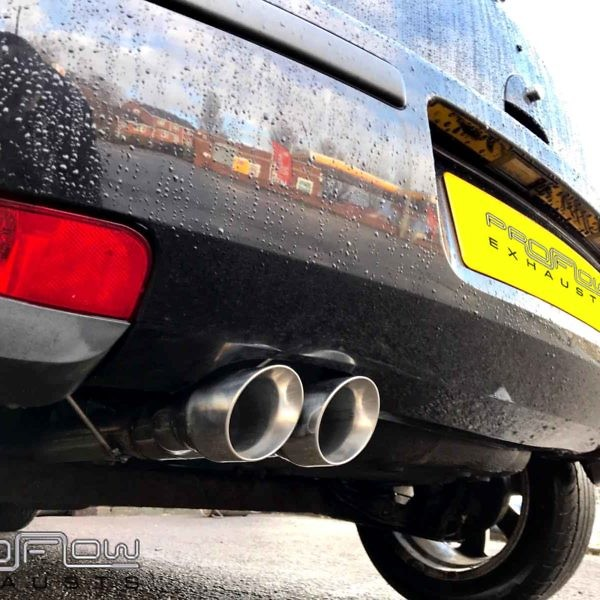 Proflow Exhausts Vauxhall Corsa Stainless Steel Back Box Delete With Twin Tip Tailpipe (2)