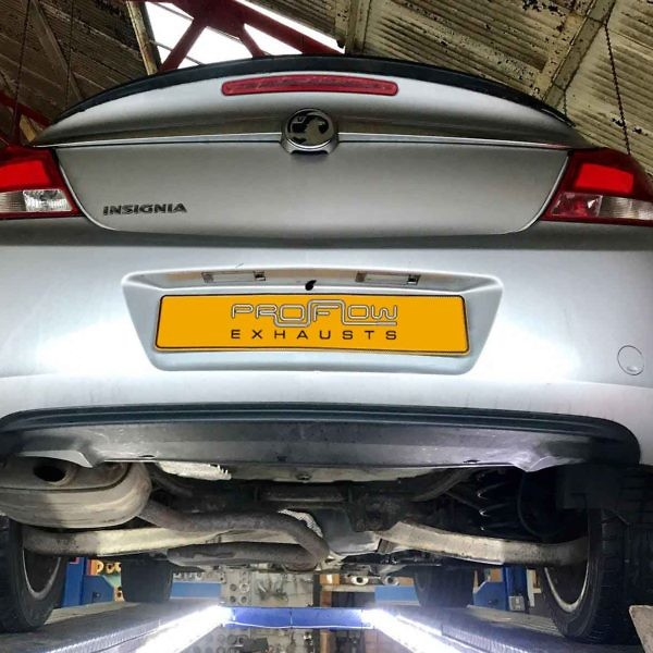 Proflow Exhausts Vauxhall Insignia Middle And Dual Rear Stainless Steel Exhaust System Before