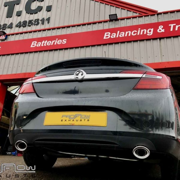 Proflow Exhausts Vauxhall Insignia Dual Rear No Boxes Custom Built Stainless Steel Exhaust From £300 (1)