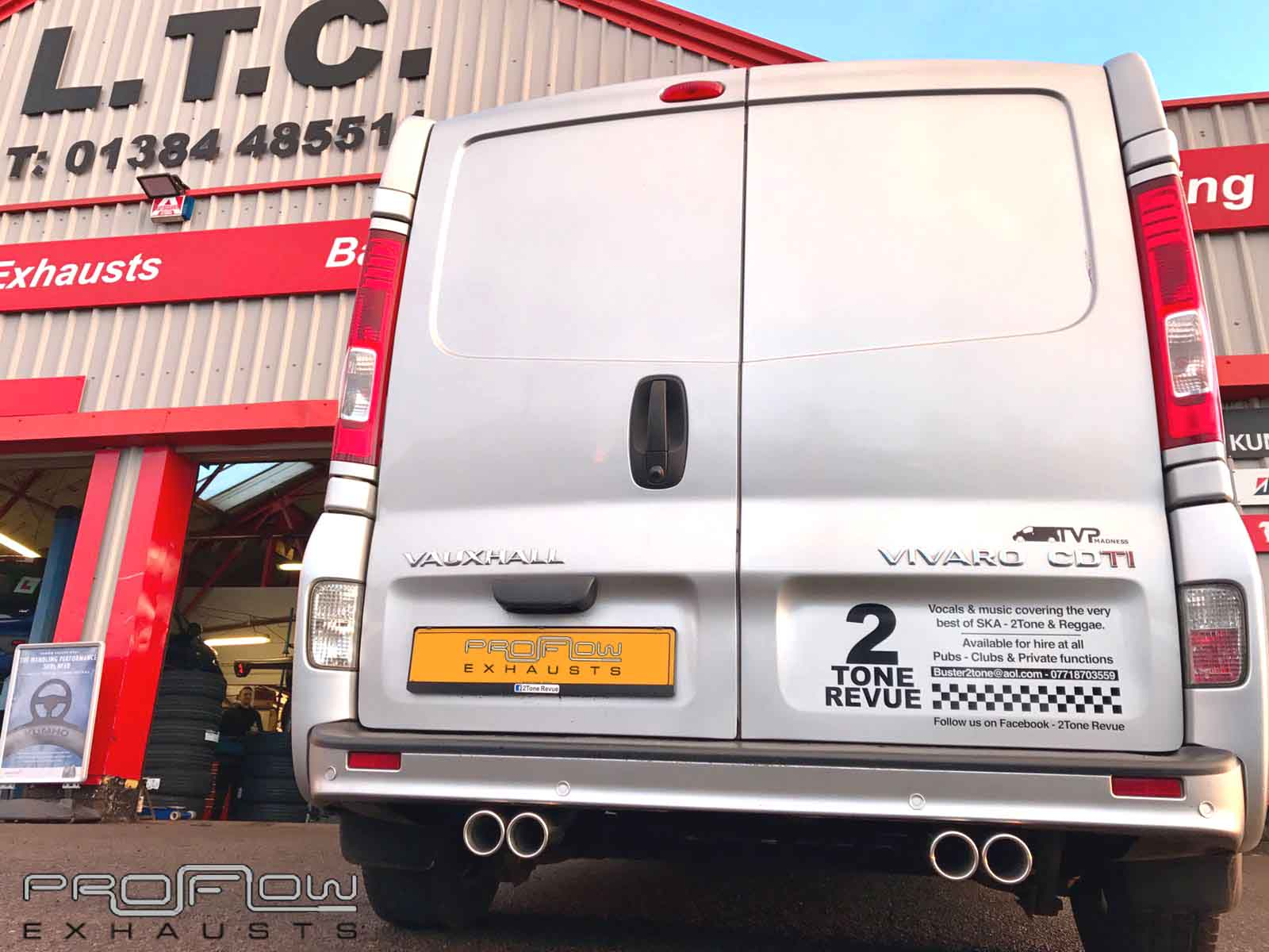 Vauxhall Vivro Fitted With Proflow Exhausts Stainless Steel Pipe Work Dual Twin Exhaust Tailpipes (1)