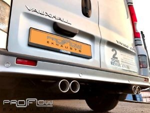 Vauxhall Vivro Fitted With Proflow Exhausts Stainless Steel Pipe Work Dual Twin Exhaust Tailpipes (2)