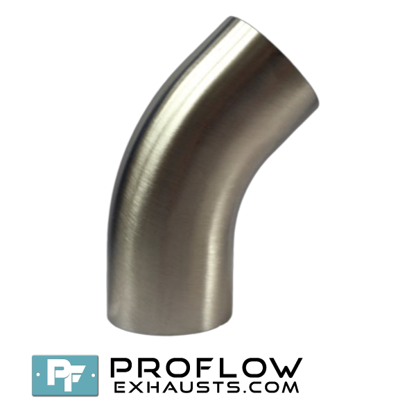 Proflow exhausts 90 Degree Short Dairy Bend Stainless Steel