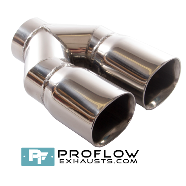 Proflow Exhausts Stainless Steel Twin Square Tailpipe TX141