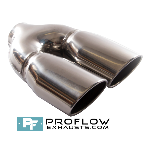 Proflow Exhausts Stainless Steel Twin Tailpipe TX177