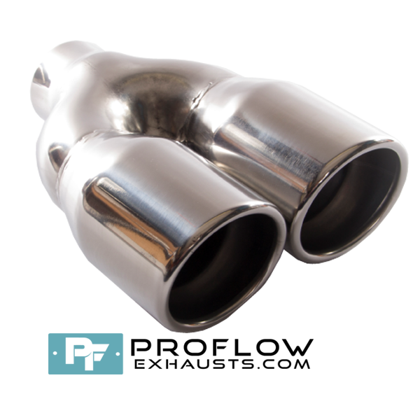 Proflow Exhausts Stainless Steel Twin Round Tailpipe TX023
