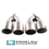 Proflow Exhausts Stainless Steel Twin Staggered Round Tailpipe TX083L/R