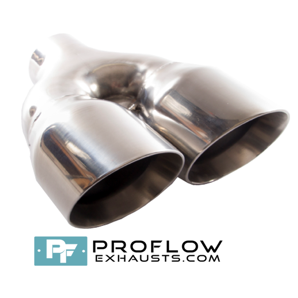 Proflow Exhausts Stainless Steel Twin Round Tailpipe TX082