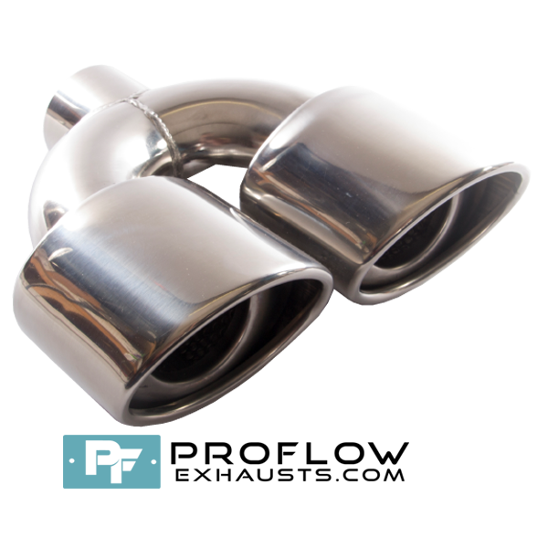 Proflow Exhausts Stainless Steel Twin Oval Tailpipe TX088