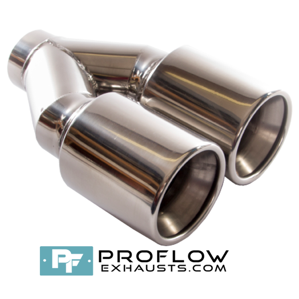 Proflow Exhausts Stainless Steel Twin Round Tailpipe TX090