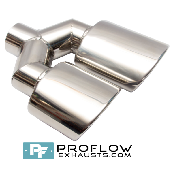 Proflow Exhausts Stainless Twin Staggered Oval Tailpipe TX101L/R