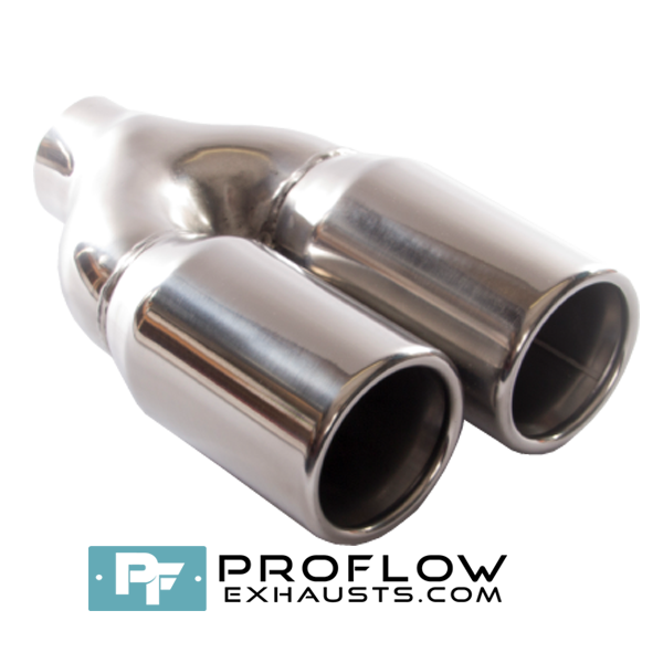 Proflow Exhausts Twin Staggered Round Tailpipe TX106-5