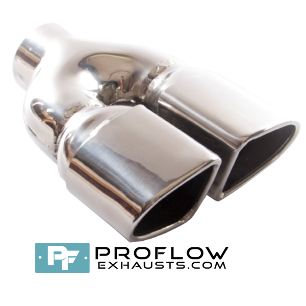 Proflow Exhausts Stainless Steel Twin Tailpipe TX108