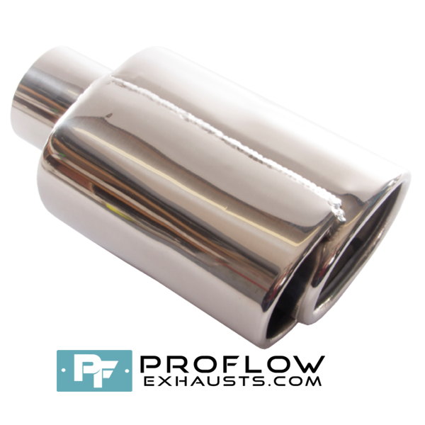 Proflow Exhausts Stainless Staggered Square Tailpipe TX122L/R
