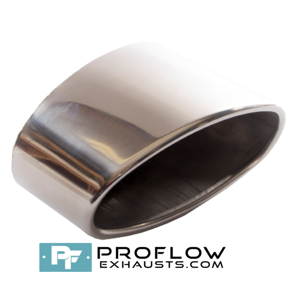 Proflow Exhausts Stainless Staggered Oval Tailpipe TX124L/R