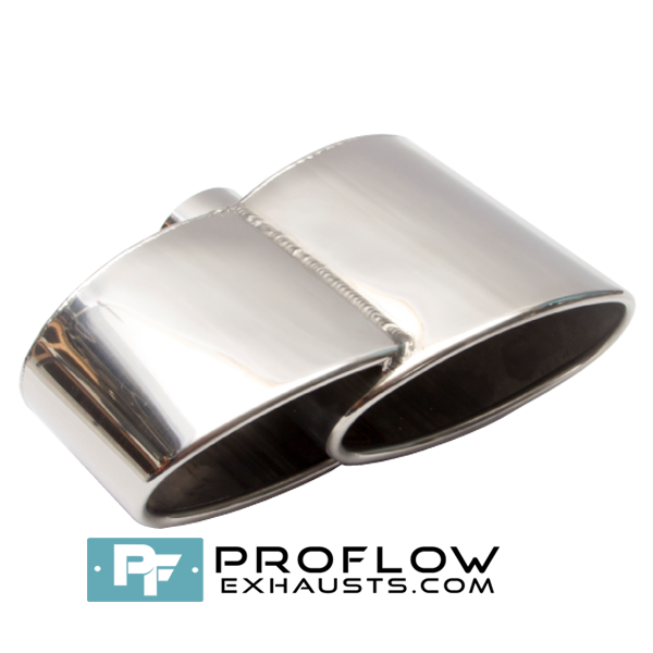 Proflow Exhausts Stainless Twin Staggered Oval Tailpipe TX126 L/R