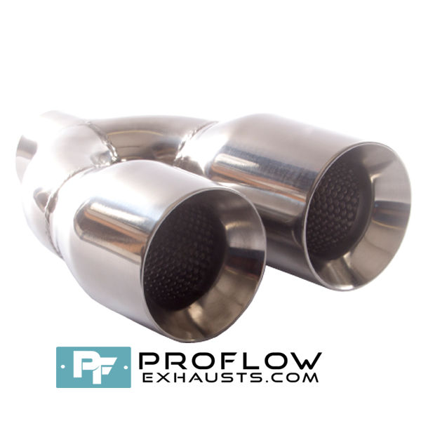 Proflow Exhausts Twin Staggered Round Tailpipe TX162