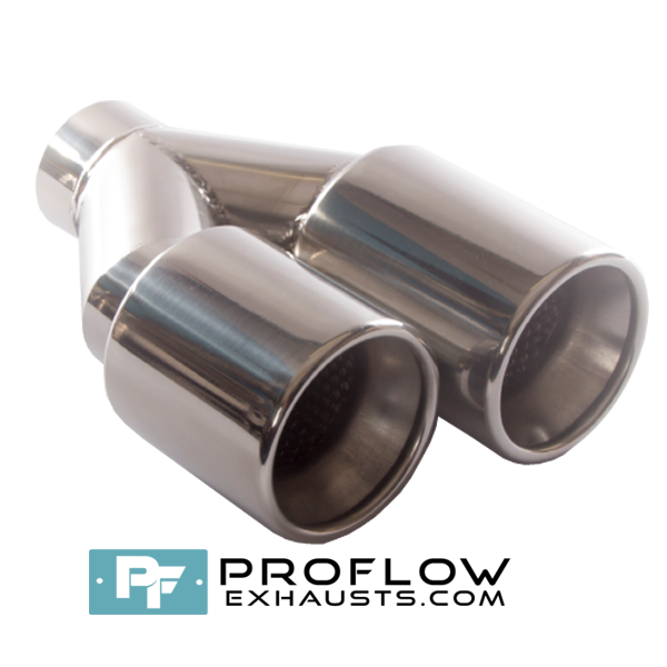 Proflow Exhausts Twin Staggered Round Tailpipe (TX163)