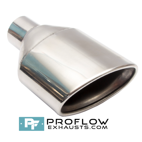 Proflow Exhausts Stainless Staggered 6X4 Oval Tailpipe TX164L/R