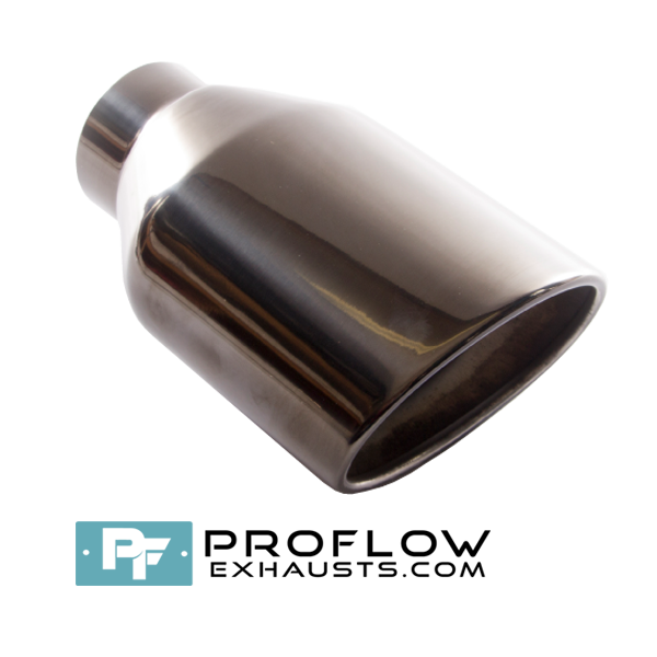 Proflow Exhausts Tailpipe Black Nickel Oval TX195