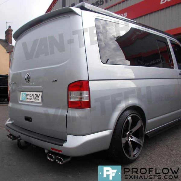 VW T5 Transporter Stainless Steel Custom Exhaust Back Box