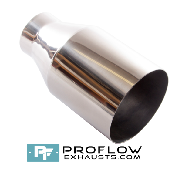 Proflow Exhausts Stainless Steel Tailpipe Burnt Tip Round TX014