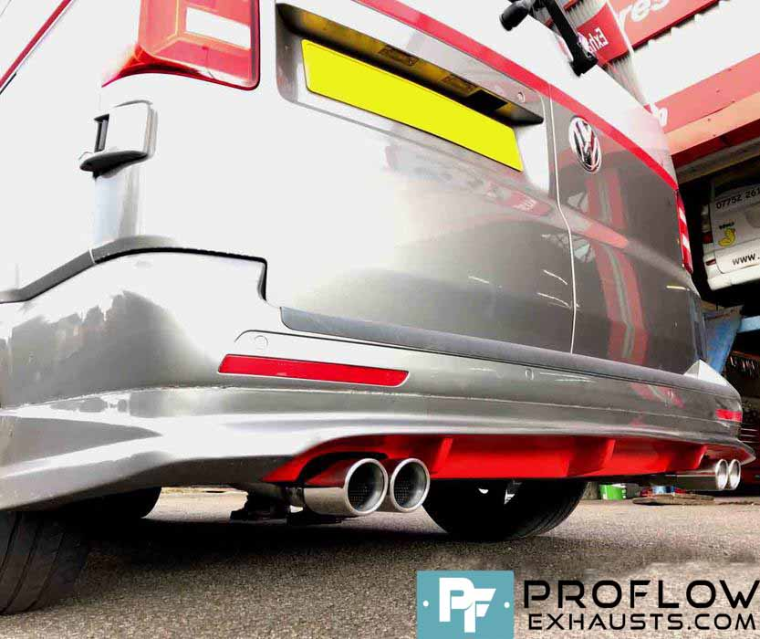 Vw T5 Fitted With Proflow Custom Stainless Steel Exhaust 4: Vw T5 Exhaust At Woreks.co