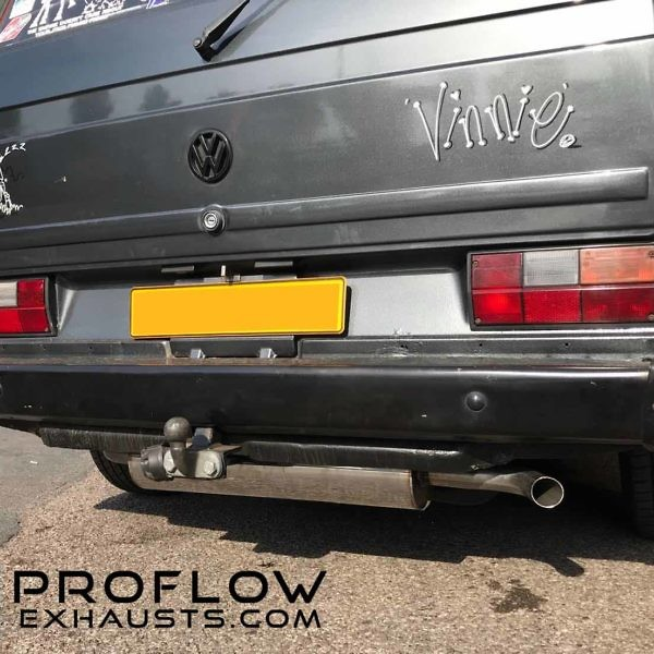 VW T25 fitted with a Prolfow Exhausts Custom Exhaust System