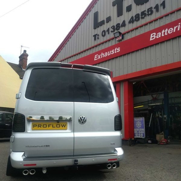 VW T5 fitted with Proflow Custom Stainless Steel Exhaust