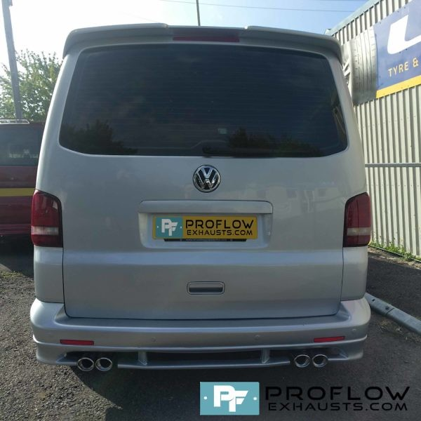 VW T5 Silver Transporter fitted with a Proflow Stainless Steel Exhaust