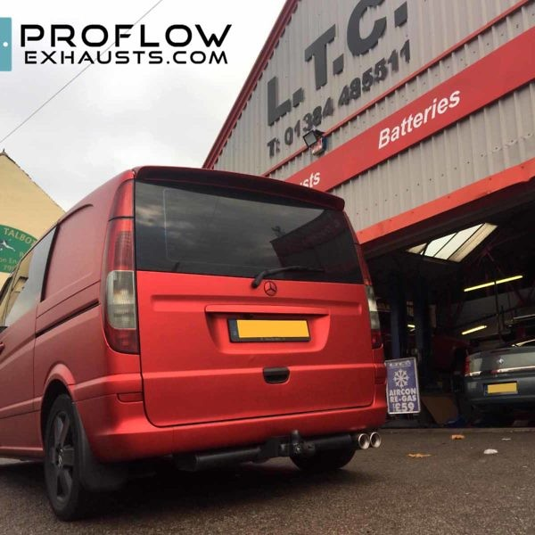Mercedes Vito Fitted With Proflow Custom Exhaust 3