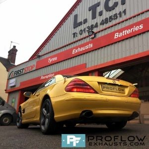 Proflow Exhausts Resonator Delete Dual Tailpipes Mercedes SL500