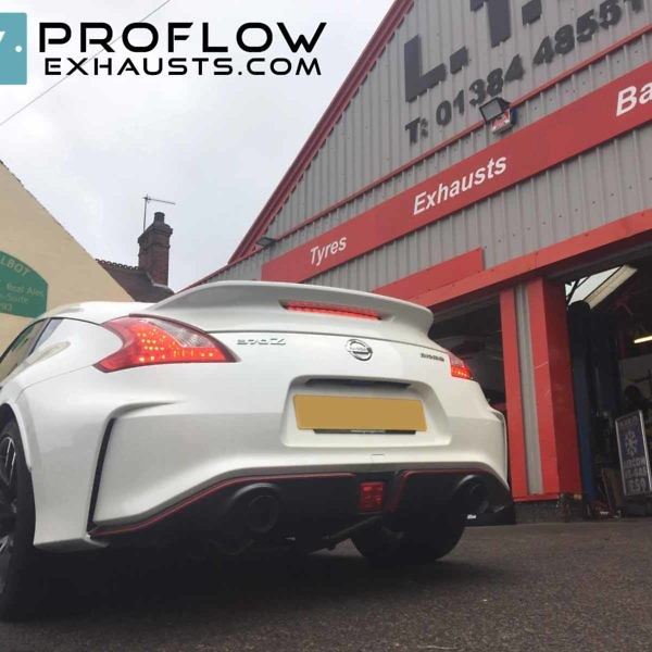 Nissan 370z Back Box Delete With Black Tip Tailpipes (4)