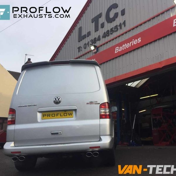 Proflow Exhausts Van Tech Vw T5 Custom Built Exhaust Middle And Rear With Dual Twin Tailpipes (2)