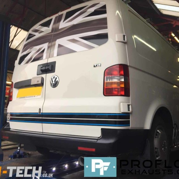 Vw Transporter T5 Fitetd With Custom Built Stainless Steel Exhaust With Twin Tailpipe (3)