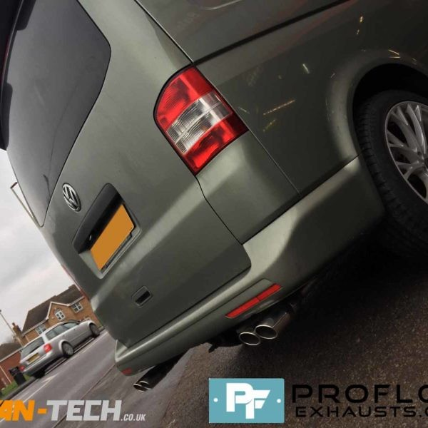 Proflow Custom Built Stainless Steel Exhaust for VW Transporter T5