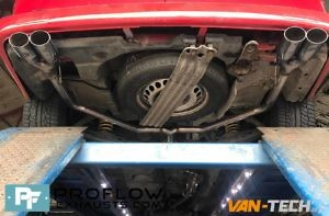 Vw Transporter T5 Middle And Dual Rear Proflow Van Tech Custom Exhaust Staggered Tx206 Black £390 (8)