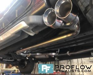 "Custom Exhaust Ford Ranger Dual System with 5"" Twin Staggered Tailpipes"