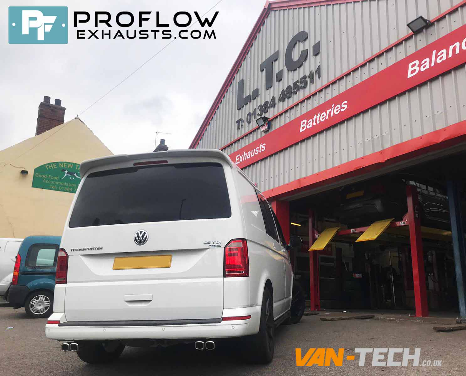 VW Transporter T5 Custom Exhaust Middle And Dual Exit Rear With Twin Tailpipes (1)