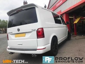 VW Transporter T5 Custom Exhaust Middle And Dual Exit Rear With Twin Tailpipes (2)