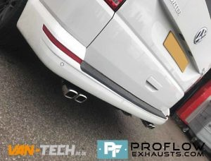 VW Transporter T5 Custom Exhaust Middle And Dual Exit Rear With Twin Tailpipes (3)