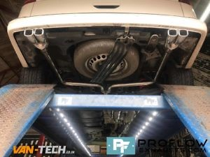 VW Transporter T5 Custom Exhaust Middle And Dual Exit Rear With Twin Tailpipes (5)