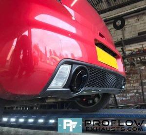 Dual Exit Back Box Delete Custom Built Exhaust For Suzuki Swift (2)