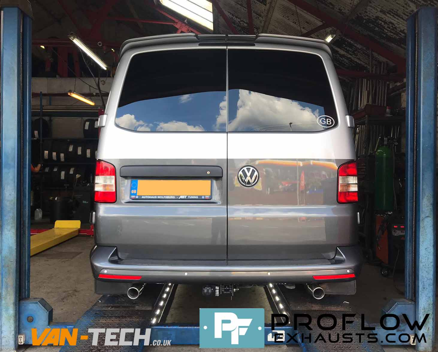 Proflow Custom Stainless Steel Exhaust For Volkswagen Transporter T5 (2)